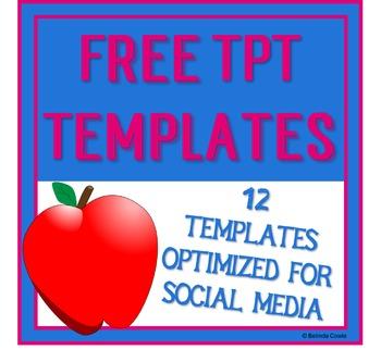FREE Teachers Pay Teachers and Social Media Templates - Ge