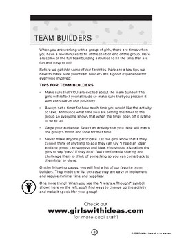Free Team Builder Ideas Resource Guide