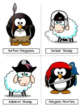 Free Team Cards in English for any activity and age. Sheep Vs. Penguins!