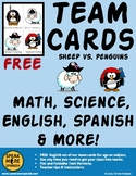 Free Team Cards in English for any activity and age. Sheep