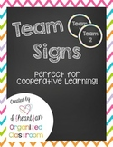 Free Team Signs (Chevron)