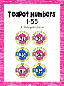 Free Teapot Numbers 1-55