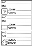 Free Technology Label/Login Cards