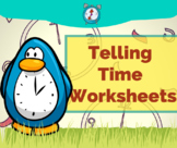 FREE Colorful Printable TellingTime Worksheets - Grade 2 & Grade 3