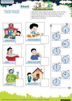 FREE Colorful Printable TellingTime Worksheets - Grade 2 & Grade 3