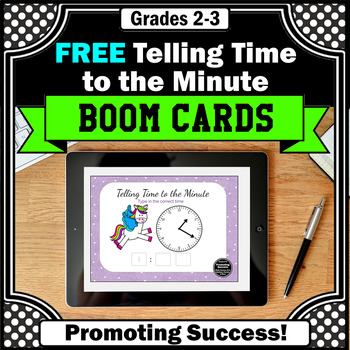 FREE Telling Time Math BOOM Cards