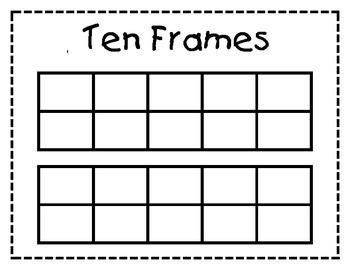 Free Ten Frame Placemat