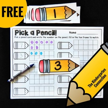 Free Ten Frames Math Center Activity
