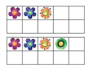 Free Ten Frames: Spring Flowers
