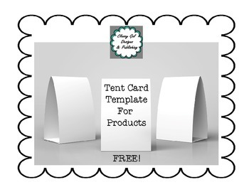 Tent Cards Template | Free Tent Card Template By Classy Gal Designs And Publishing Tpt