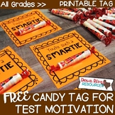 Free Test Motivation Treat Tags | Testing Motivation Treat Tags