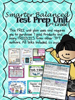 Free Test Prep Unit for Smarter Balanced and PARCC Computer Tests