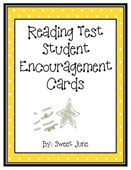 Free Testing Encouragement Cards - Reading