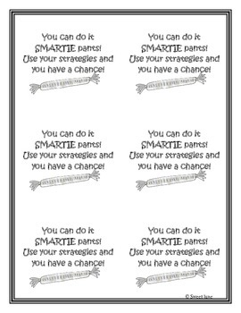 Free Testing Encouragement Cards - Smarties