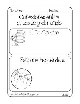 Free Text to World Connection Printable