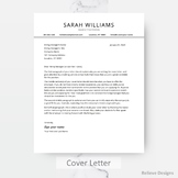 Free Cover Letter/Thank You Template + Reference Sheet Template