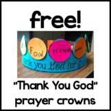 Free!  Thank You God Prayer Crowns craft