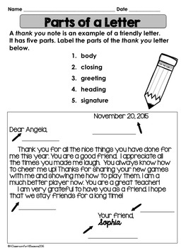 Free thank you letter lesson by a classroom for all seasons tpt free thank you letter lesson expocarfo Choice Image