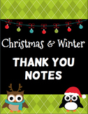 Christmas & Winter Thank You Notes - FREE