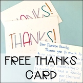 Free Thank You Postcard | Parent and Student Gift Thanks
