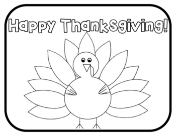 Free Thanksgiving Activities - Thanksgiving Coloring Page