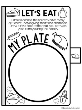 Free Thanksgiving Activity Flip Book