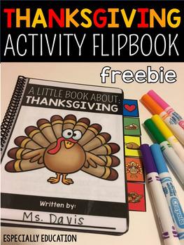 Free Thanksgiving Activity Flip Book