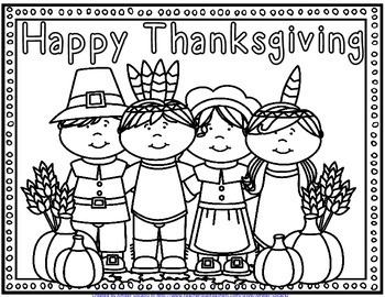 {Free} Thanksgiving Coloring Pages
