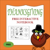 Free Thanksgiving  Interactive Notebook