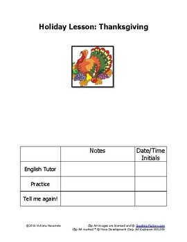 Free Thanksgiving Lesson for the Survival ESL Rockwall Eng