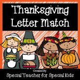 Thanksgiving  Letter Match