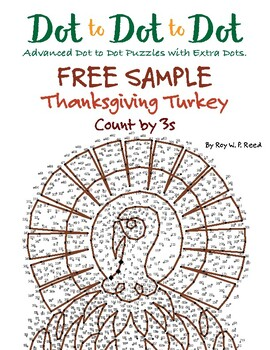 Skip count by 3 Thanksgiving Turkey Free Dot to Dot
