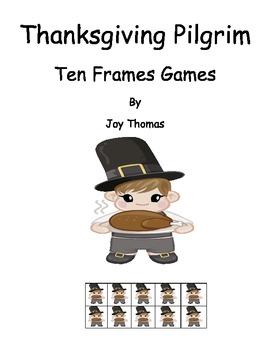 Free Thanksgiving Math - Pilgrim Ten Frames Games