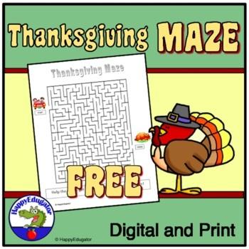 Thanksgiving: Free Thanksgiving Maze
