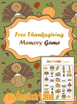 Free Thanksgiving Memory Game
