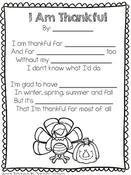 Free Thanksgiving Poem Template