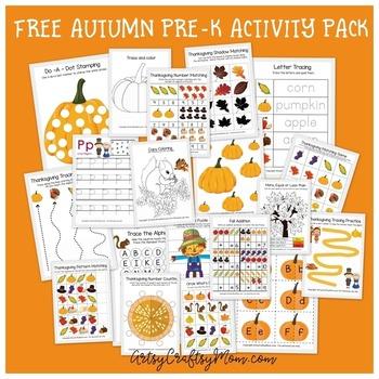 Free Thanksgiving Printable Preschool Activity Pack