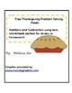 Free Thanksgiving Problem Solving Sheets