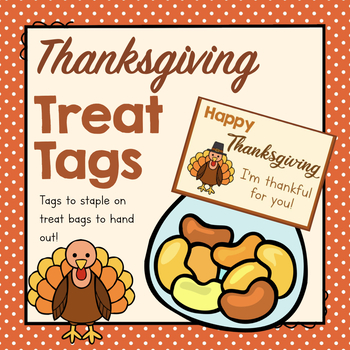 Free Thanksgiving Treat Tags