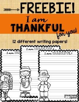 Free Thanksgiving Writing Paper