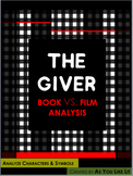 Free, The Giver Character Analysis and Symbolism Analysis, Print and Practice