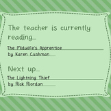 Free-The teacher is currently reading. Fully editable print, frame & use on desk