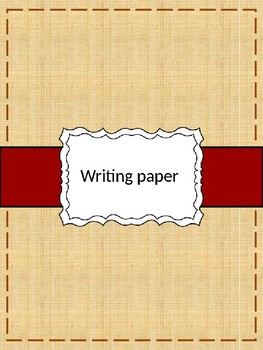 Free Themed Writing Paper