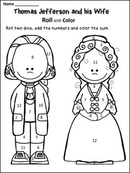 Free Thomas Jefferson Coloring Page