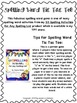 Free Tic-Tac Toe Spelling Activity