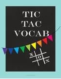 Free Tic Tac Vocabulary