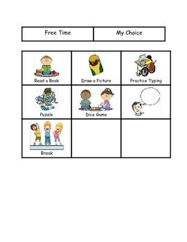 Free Time Choice Board