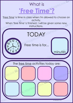 Free Time Classroom Poster
