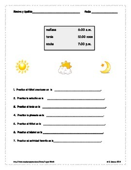 Free: Time in Spanish