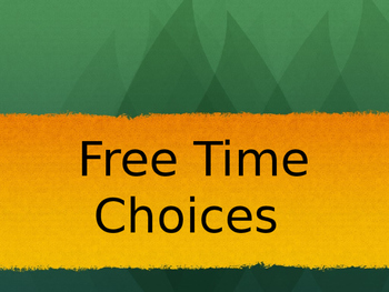 Free Time or Play Time Chart